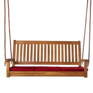 All Things Cedar Teak Swing Red Cushion - 54""