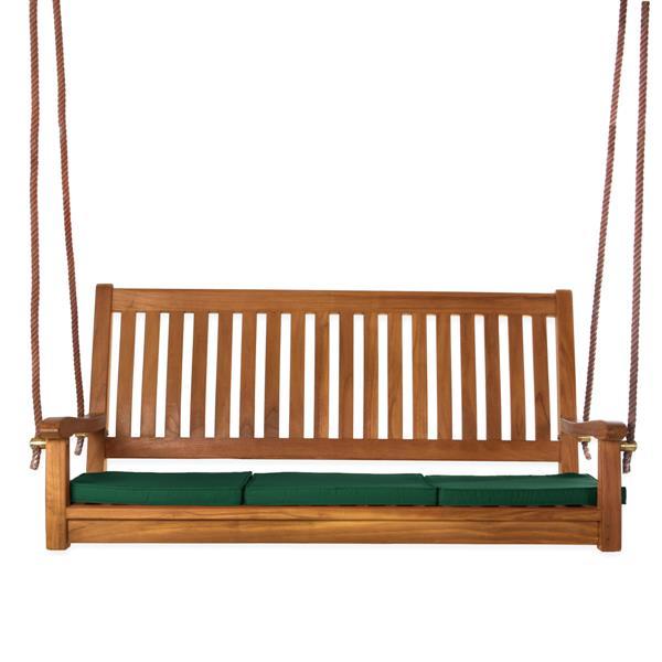 "All Things Cedar Teak Swing Green Cushion - 54"""