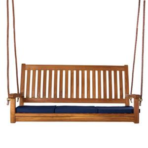 All Things Cedar Teak Swing Blue Cushion - 54