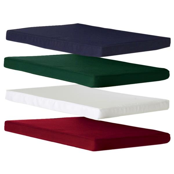 Table extensible et 6 chaises en teck, Coussin rouge