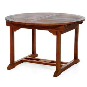 Ensemble de 4 chaises et table extensible, Coussin blanc
