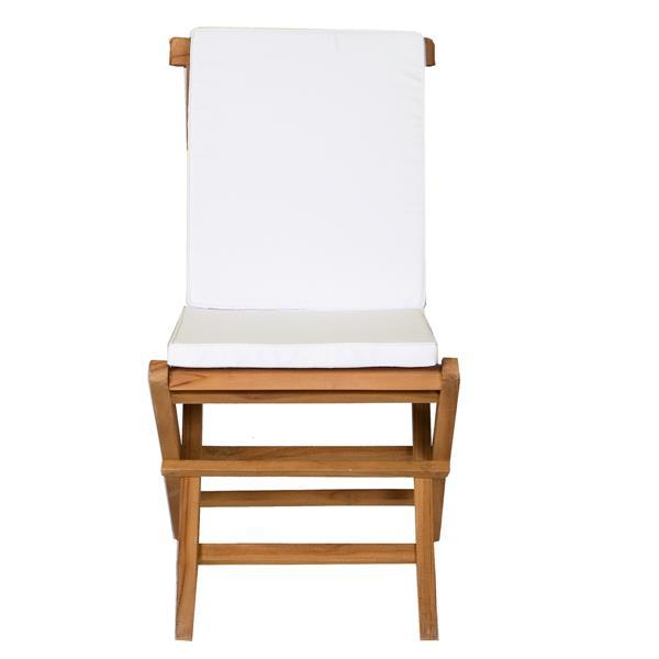 Ensemble de 6 chaises et table extensible, Coussin blanc