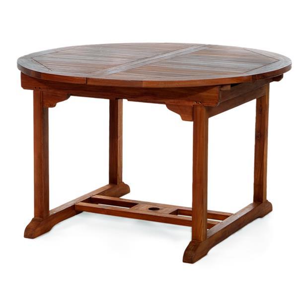 Ensemble de 6 chaises et table extensible, Coussin rouge