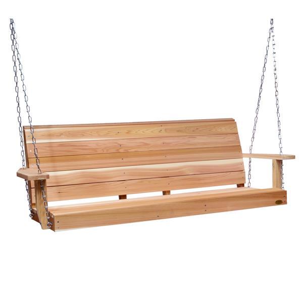 Balançoire de porche All Things Cedar avec ressorts, 6'