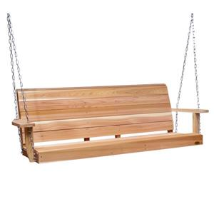All Things Cedar Porch Swing - 6'