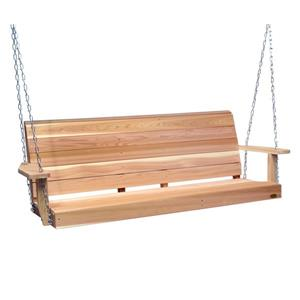 All Things Cedar Porch Swing - Natural - 5'