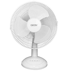 "GO ON Oscillating Table Fan - 12"" - Metal - White"