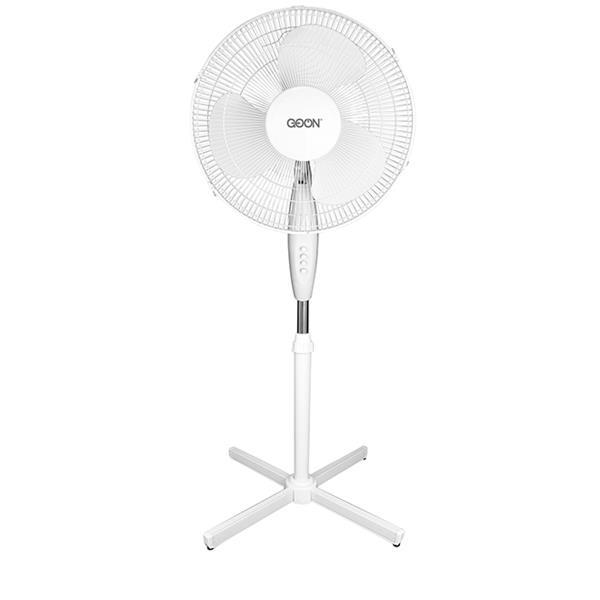 """Ventilateur oscillant sur pied GO ON, 16"""", blanc"""