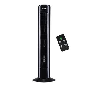 "Ventilateur Vertical GO ON, 28"", plastique, noir"