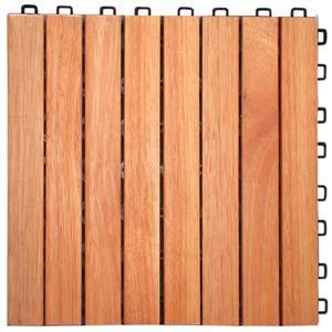 """Emboîtement en Eucalyptus, 8 lamelles, 11,8"""", bois, 10 mcx"""