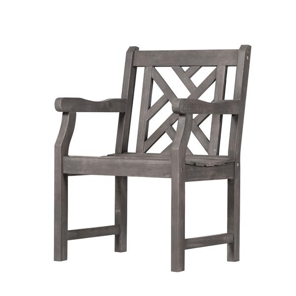 "Renaissance Dining Set - 59"" - Acacia - Gray - 5 pcs"