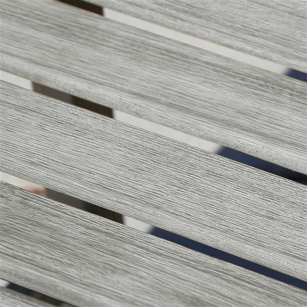 Ens. de salle à manger Renaissance, bois, gris, 7 mcx