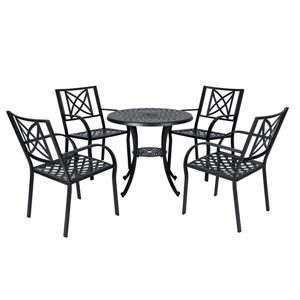 Paracelsus Dining Set - Aluminum - Black - 5 pcs