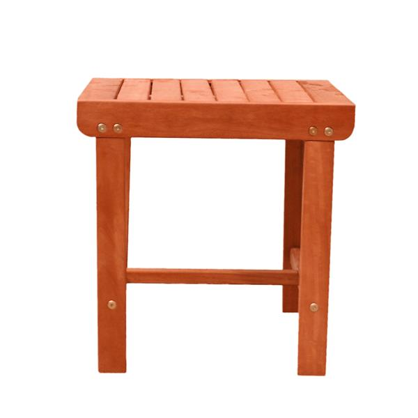 Vifah Malibu Outdoor Side Table - 18-in x 20-in - Wood  - Natural