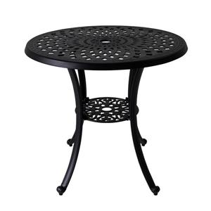 Vifah Paracelsus Outdoor Table - 31.5-in x 28-in - Aluminum - Black
