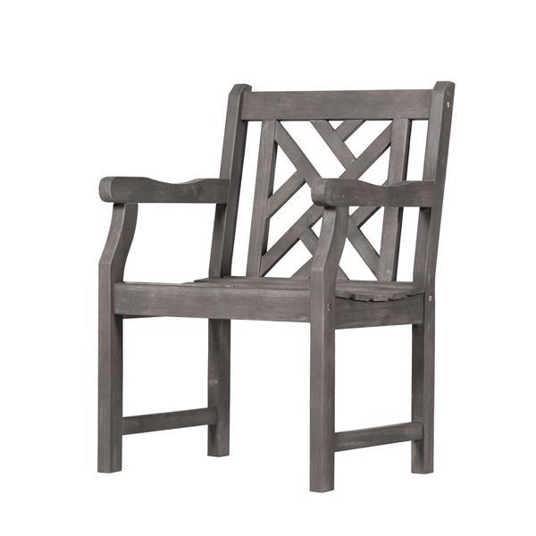 About A Chair 22 Armchair.Vifah Renaissance Garden Armchair 22 X 17 Wood Gray V1301 Rona