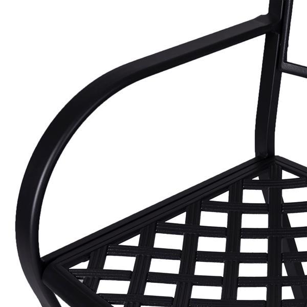 """Chaises d'extérieur Paracelsus, 21,5"""" x 17"""", noir, ens. de 2"""