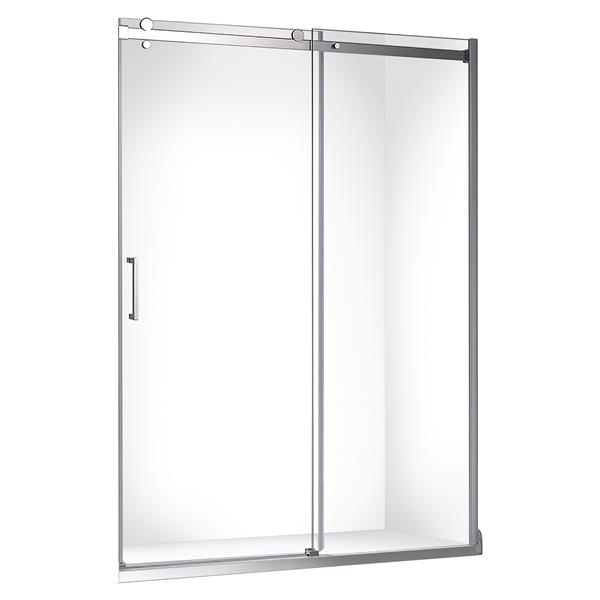 "Jade Bath Quartz Sliding Shower Door with Chrome Hardware 60""x78.75"""