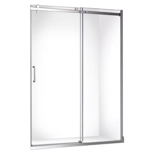 "Porte de douche coulissante Quartz  fini chrome, 60""x78.75"""
