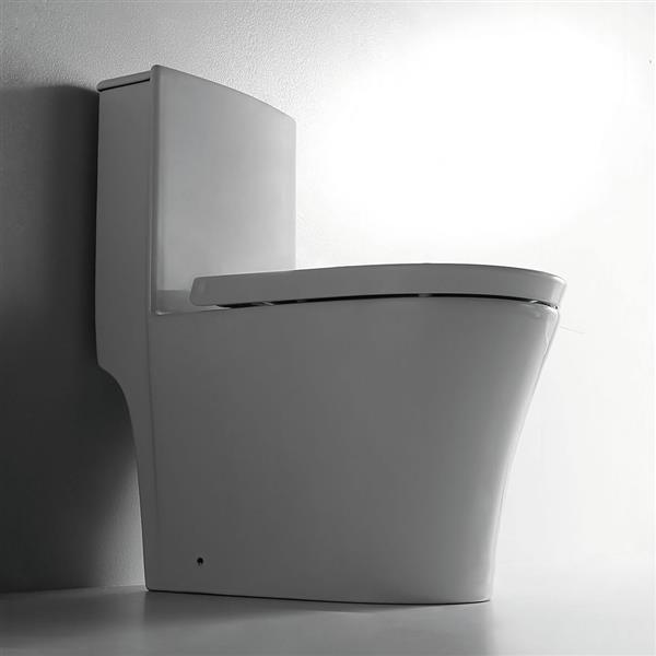 Toilette monobloc Isabelle en céramique blanche
