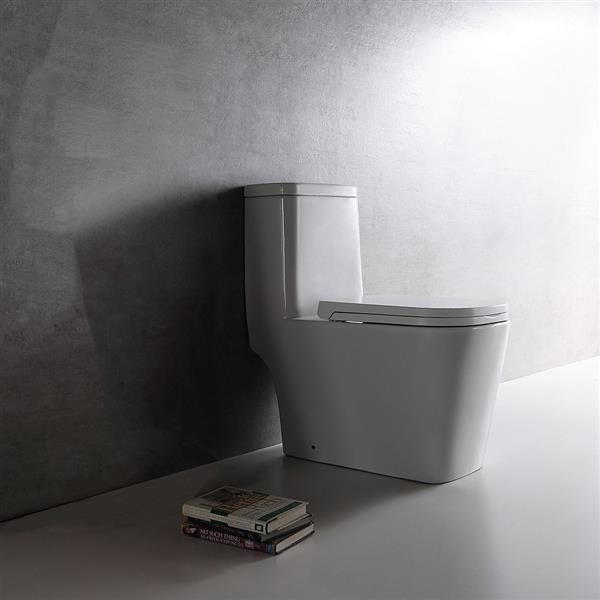 Toilette monobloc Annabelle en céramique blanche