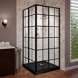 DreamLine French Corner Sliding Shower - 36-in - Black