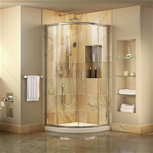 Cabine de douche coulissante Prime, 38 po, acrylique, blanc