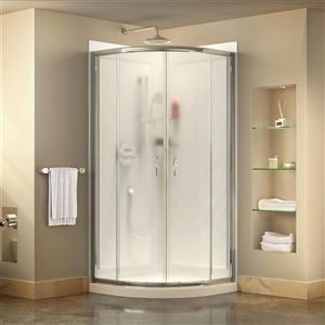Ens. de base de douche Prime, 33 po, acrylique, blanc