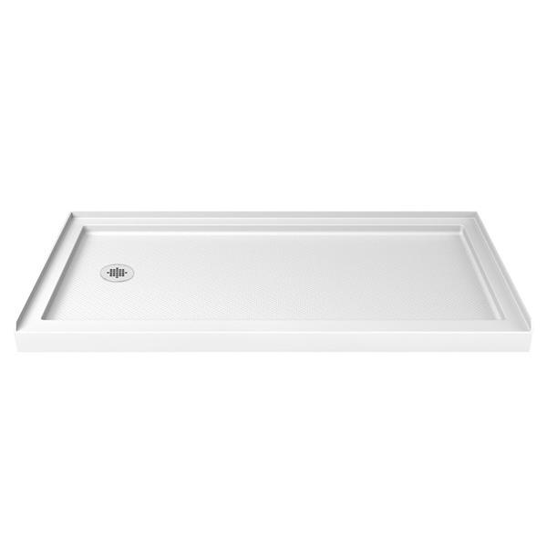 DreamLine SlimLine Shower Base - 36-in x 60-in x 2.75-in - Acrylic - White