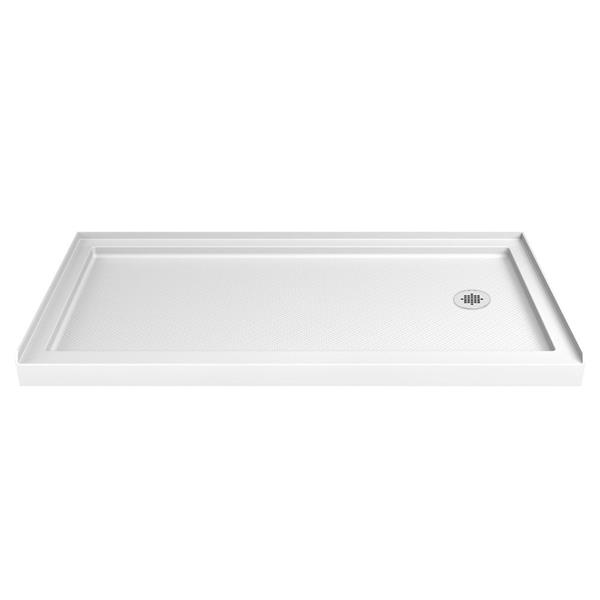 DreamLine SlimLine Shower Base - 34-in x 60-in - Acrylic - White