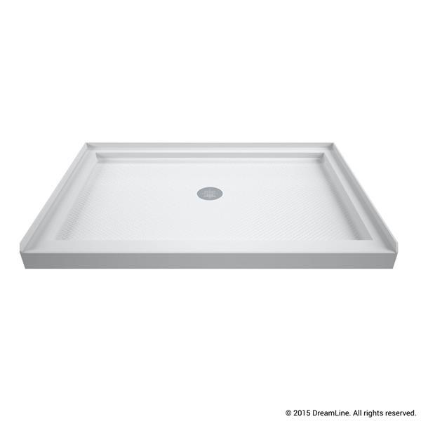 Base de douche SlimLine, 34 po x 42 po, acrylique, blanc