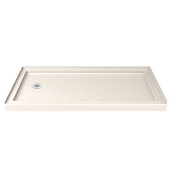 Base de douche SlimLine, 32 po x 60 po, acrylique, beige