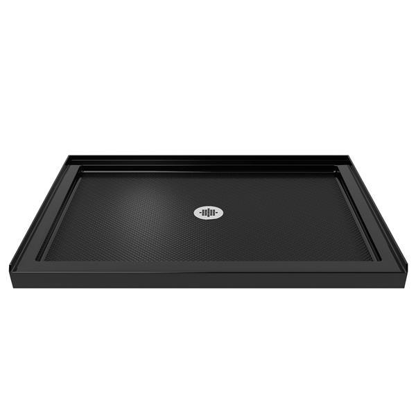 Base de douche SlimLine, 32 po x 48 po, acrylique, noir
