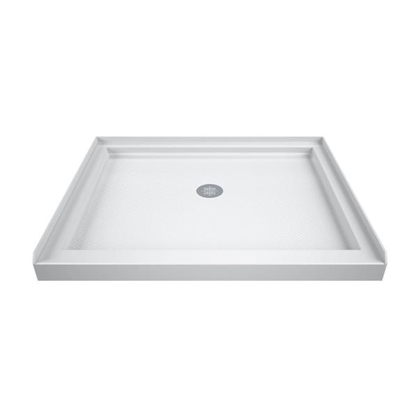 DreamLine SlimLine Shower Base - 32-in x 32-in - Acrylic - White