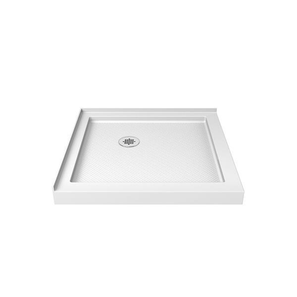 Base de douche SlimLine, 36 po x 2,75 po, acrylique, blanc