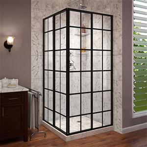 French Corner Shower Door - 34.5