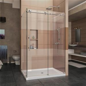 DreamLine Enigma-X Shower Door - 48.38-in x 76-in - Stainless steel