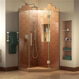 Porte de douche Prism Plus, 36 po x 72 po, nickel