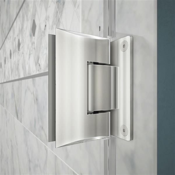 Porte de douche Unidoor Lux, 30,38 po x  po, chrome