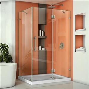 DreamLine Quatra Lux Shower Door - 46.38-in x -in - Nickel