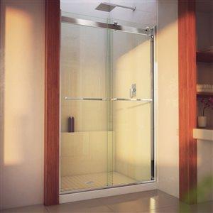 Porte de douche coulissante Essence-H, 48 po x 76 po, chrome