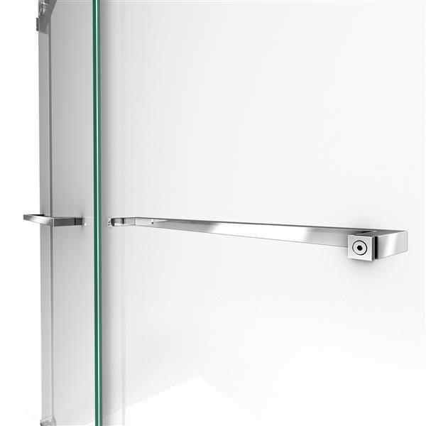 Porte de douche coulissante Essence, 60 po x 76 po, nickel