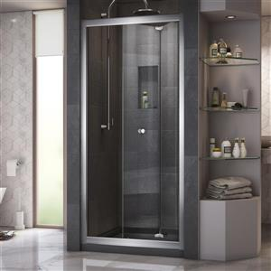 DreamLine Butterfly Bifold Shower Door - 31.5-in x 72-in - Chrome