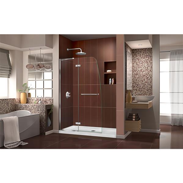 Porte de douche Aqua Ultra, 45 po x 72 po, chrome