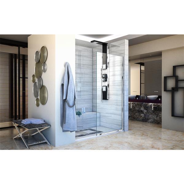 DreamLine Linea Fixed Shower Door - 30-in x 72-in - Chrome