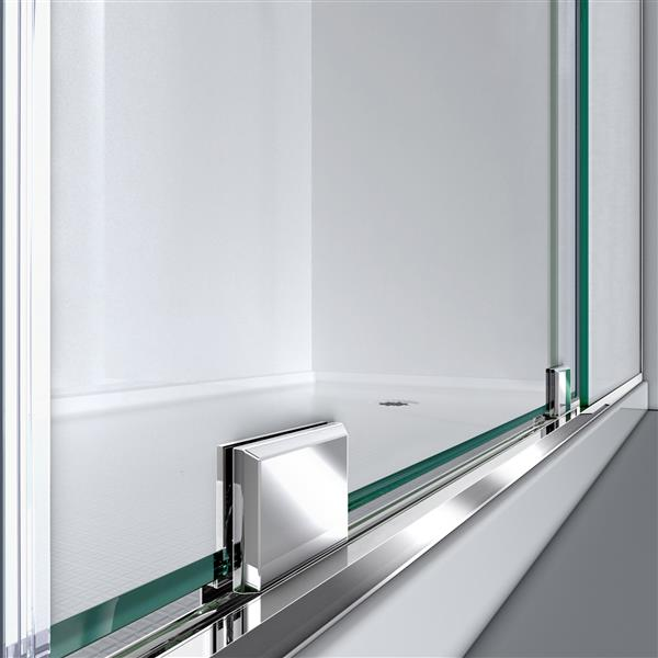 DreamLine Mirage-X Sliding Shower Door - 48-in - Chrome