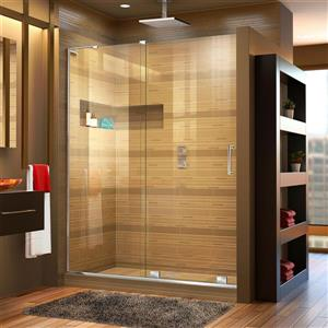 Porte de douche coulissante Mirage-X, 60 po x 72 po, chrome