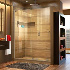DreamLine Mirage-X Sliding Shower Door - 48-in x 72-in - Nickel