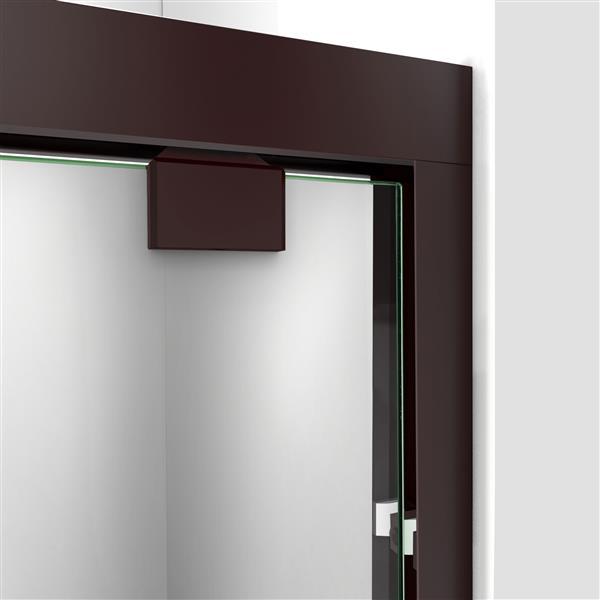 Porte de douche coulissante Encore, 60 po x 76 po, bronze