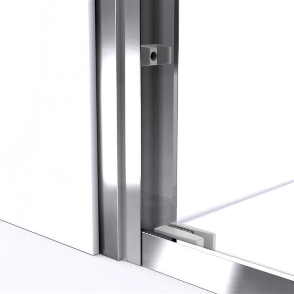 Porte de douche coulissante Duet, 48 po x 72 po, chrome